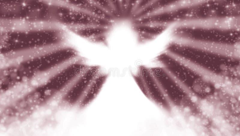 Ángel en el cielo stock de ilustración