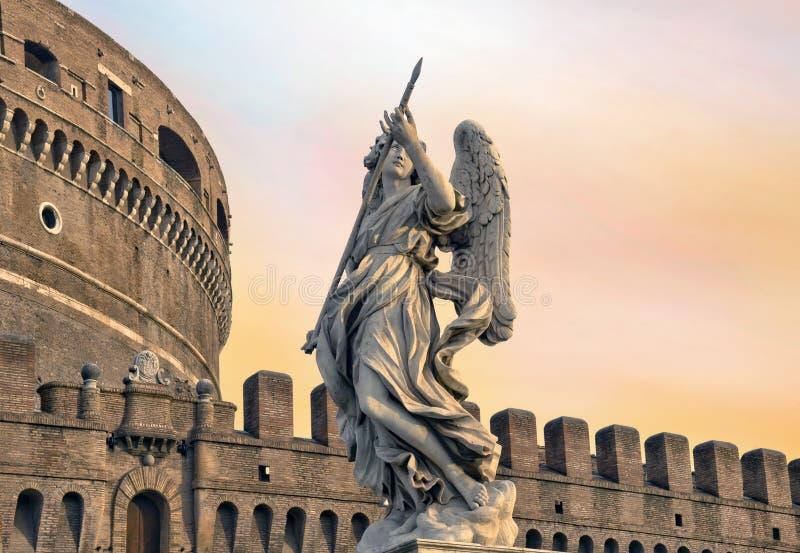Ángel en el guardia de Roma foto de archivo