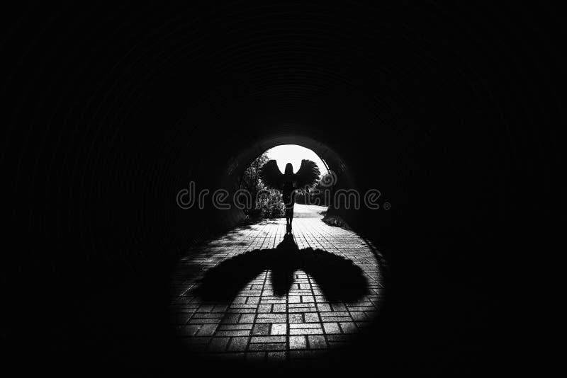 Ángel en el túnel imágenes de archivo libres de regalías