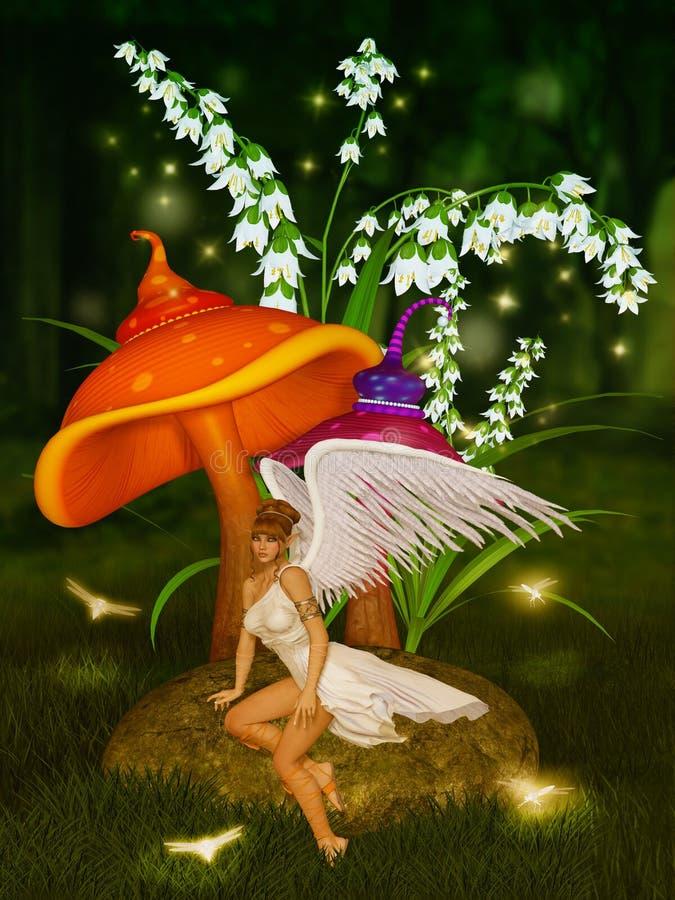 Ángel en la noche libre illustration