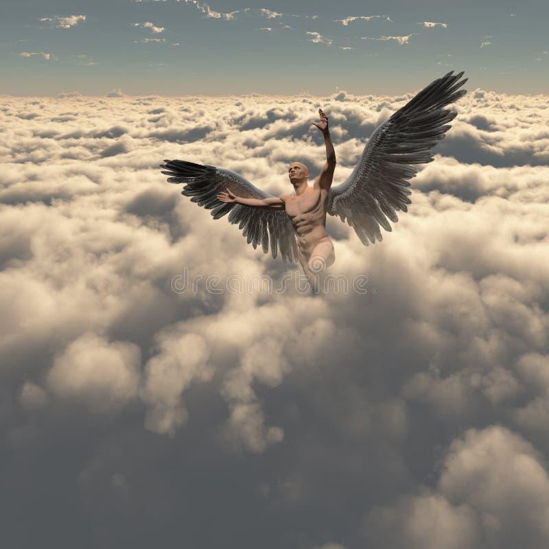Ángel en nubes imagen de archivo libre de regalías