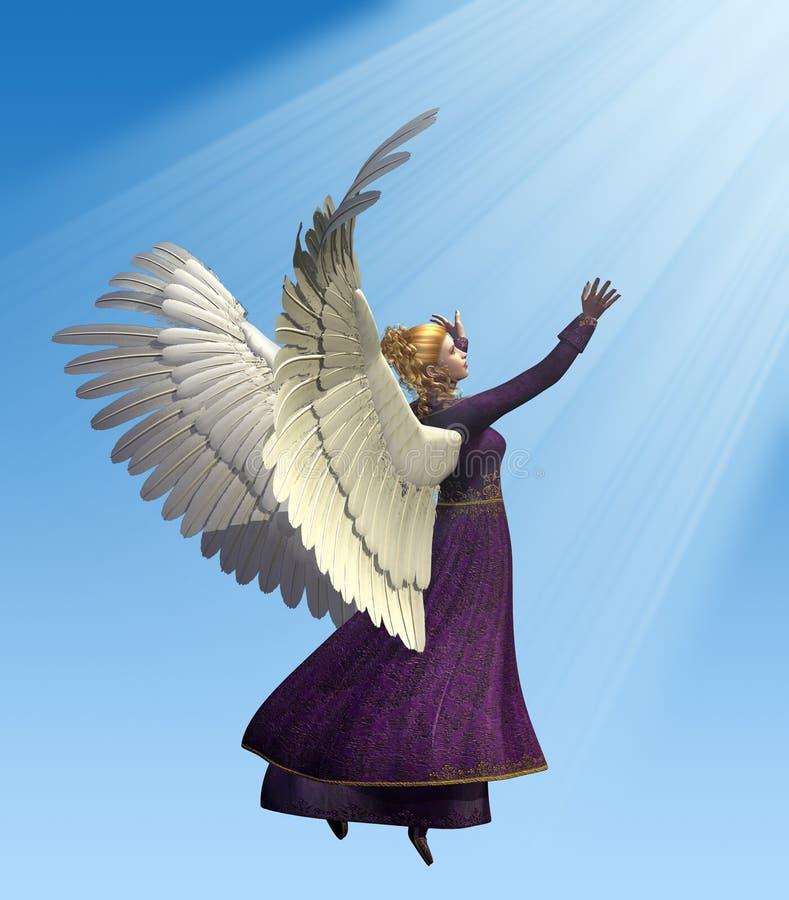 Ángel en violeta ilustración del vector