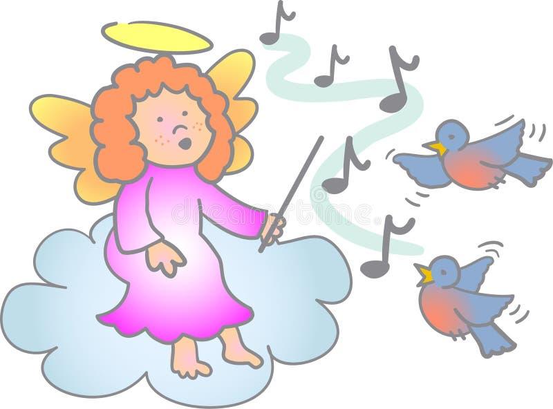 Ángel/EPS de la lección de música stock de ilustración