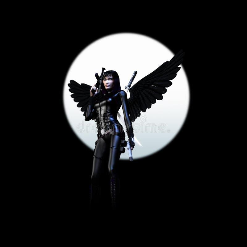 Ángel oscuro 02 stock de ilustración
