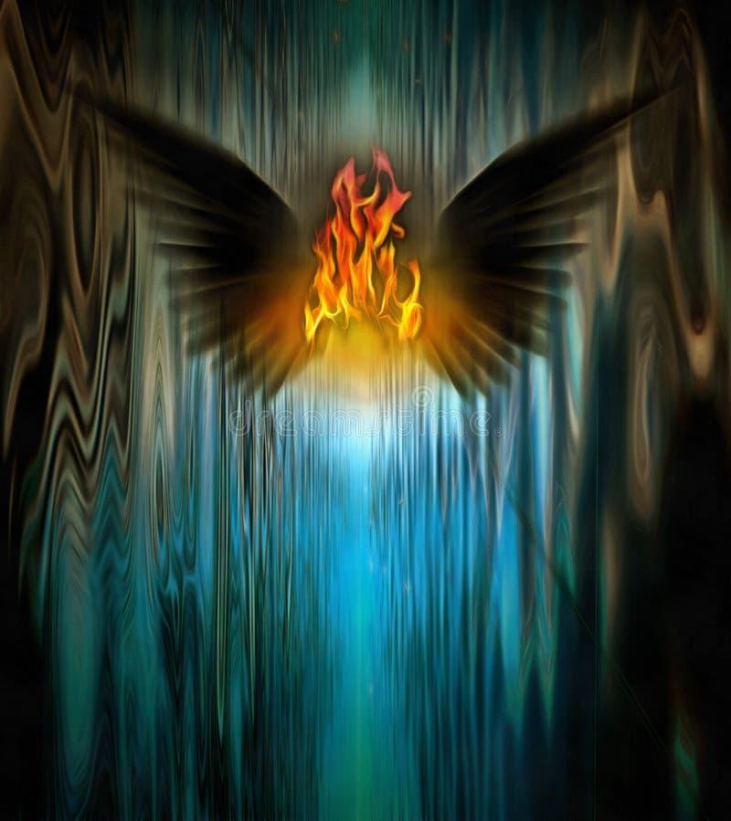 Ángel oscuro ilustración del vector