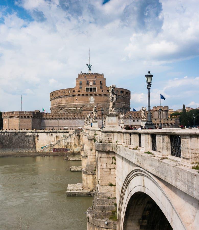 ` Ángel, Roma, Italia de Castel Sant en 2018 fotos de archivo libres de regalías