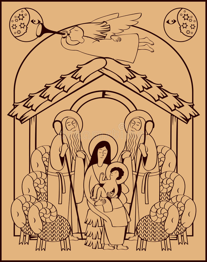 Ángel santo de la familia y de la Navidad libre illustration
