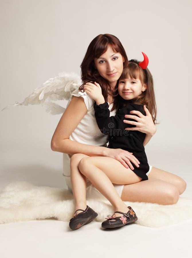 Ángel y demonio imágenes de archivo libres de regalías