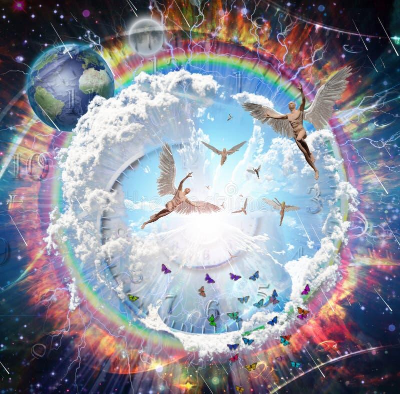 ángeles stock de ilustración