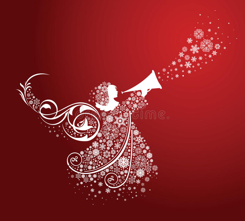 Ángeles de la Navidad. stock de ilustración