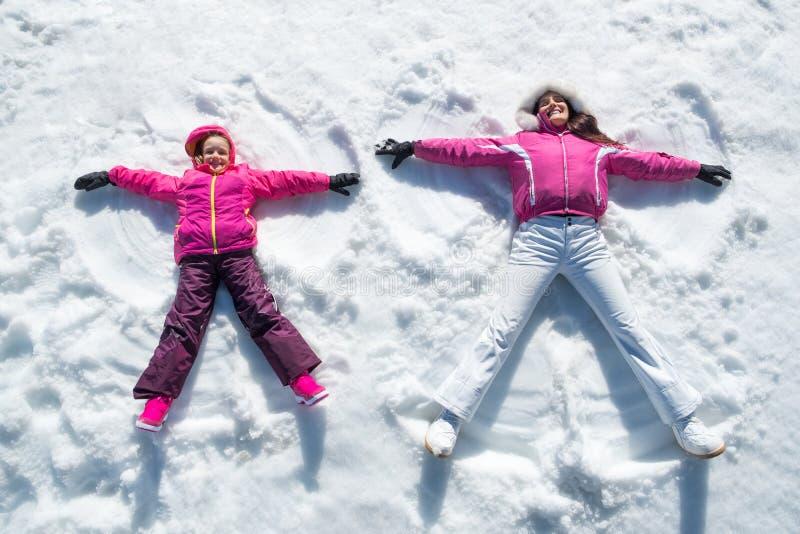 Ángeles de la nieve imagen de archivo