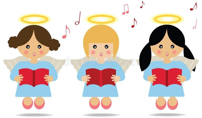 Ángeles que cantan ilustración del vector
