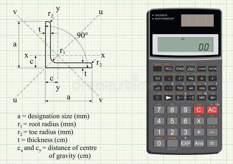 Ángulo del acero estructural ilustración del vector