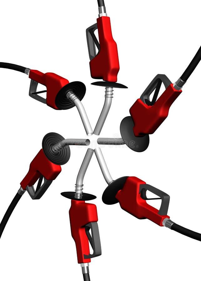 Ángulo del círculo de la bomba de gas ilustración del vector