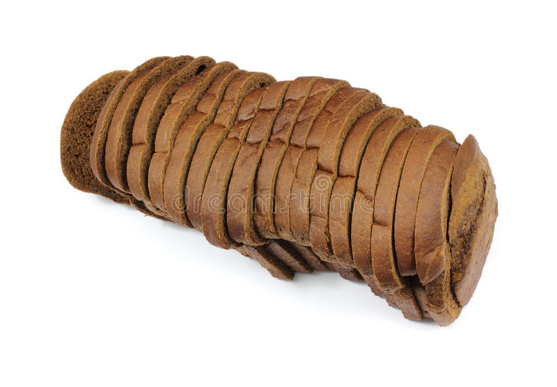 Ángulo del pan del Pumpernickel fotos de archivo