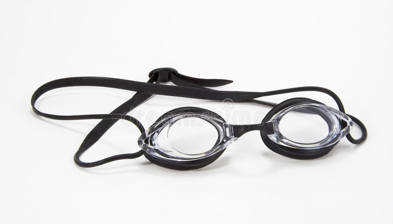 Ángulo negro de los anteojos de la natación fotografía de archivo libre de regalías