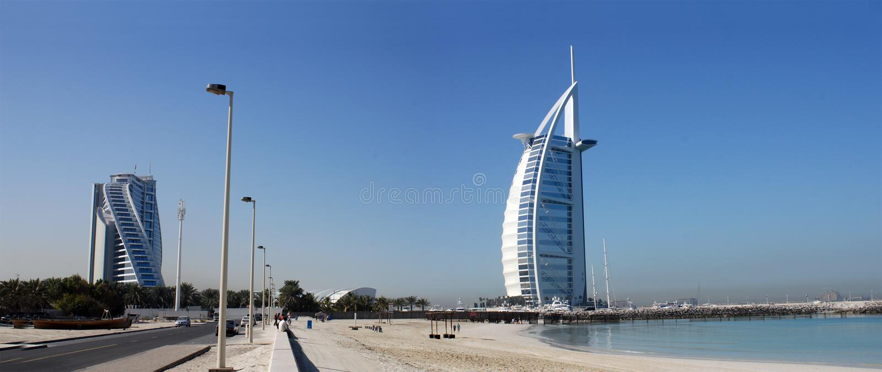 Árabe del Al de Burj, Jumeirah-Playa, Dubai foto de archivo libre de regalías