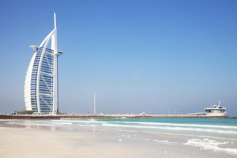 Árabe do Al de Burj, Dubai, UAE fotografia de stock royalty free