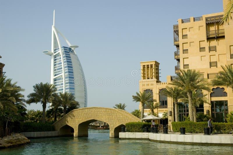 Árabe do Al de Burj, Madinat Jumeirah fotos de stock