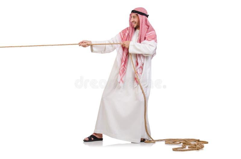 Árabe en concepto del esfuerzo supremo imagenes de archivo