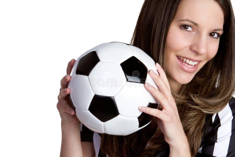 Árbitro de sorriso do futebol fotografia de stock