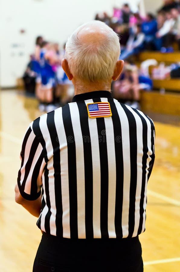 Árbitro do basquetebol fotos de stock