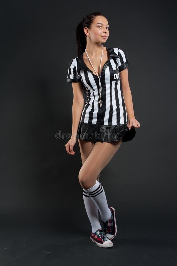 Árbitro do futebol foto de stock