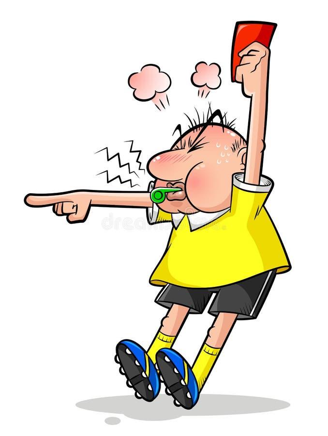 árbitro do futebol ilustração do vetor