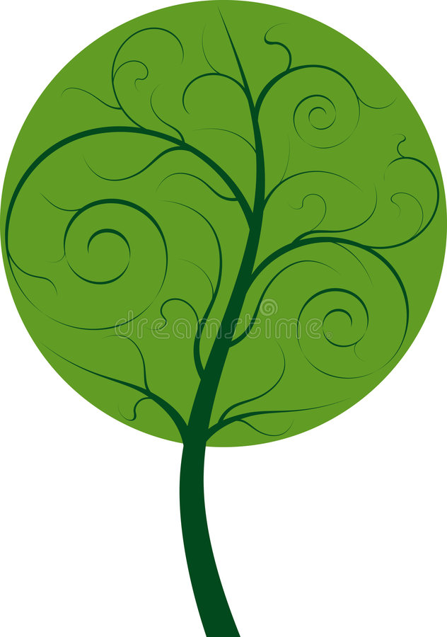 Árbol ilustración del vector