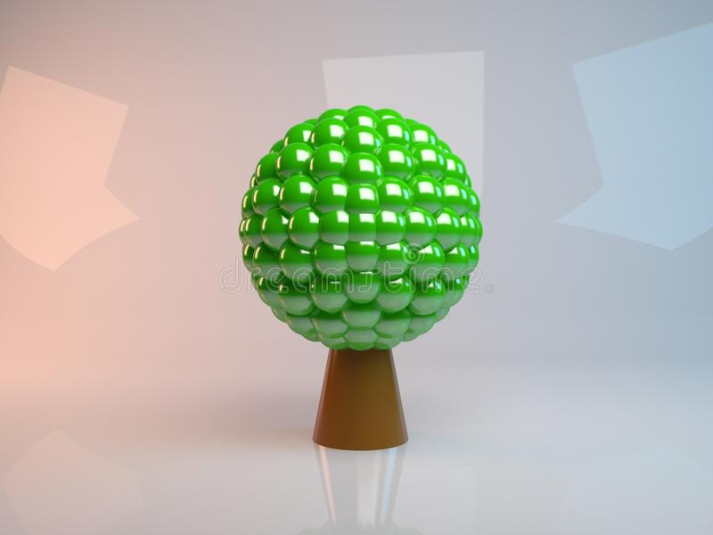 Árbol abstracto Concepto para el negocio, los medios sociales, la tecnología, la red y el diseño web libre illustration