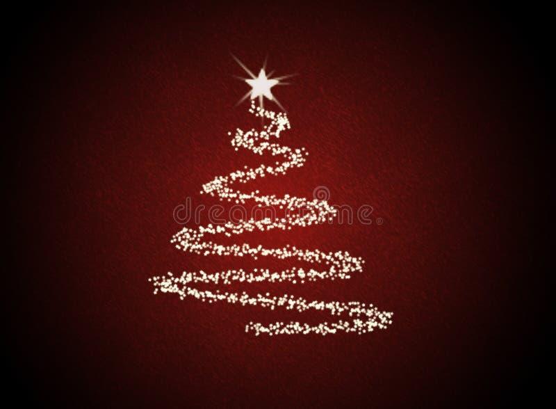 Árbol abstracto de Christmast stock de ilustración