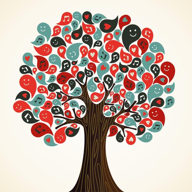 Árbol abstracto de la música stock de ilustración