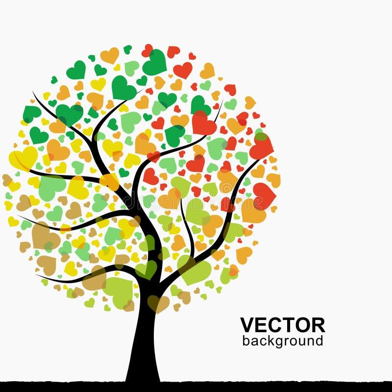 Árbol abstracto del corazón ilustración del vector