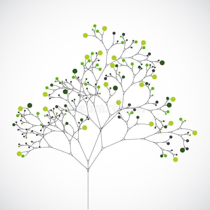 Árbol abstracto Fondo de la ecología stock de ilustración