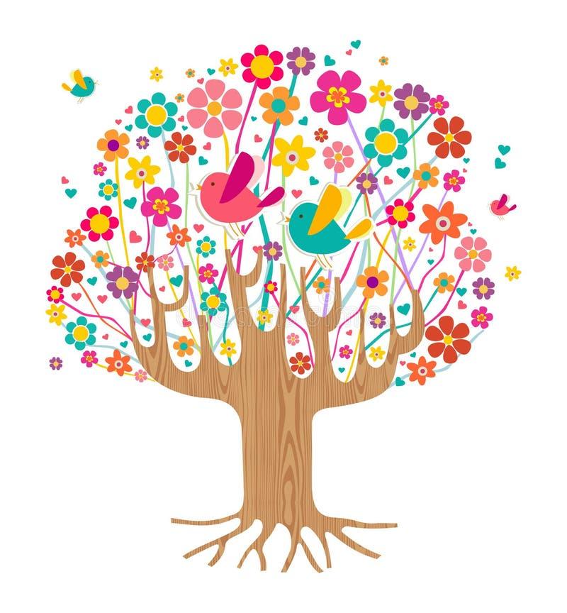 Árbol aislado del tiempo de primavera libre illustration