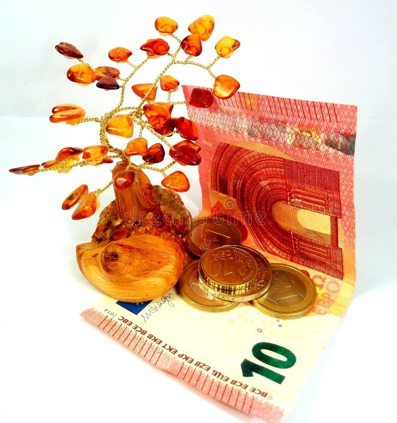 Árbol ambarino del dinero foto de archivo libre de regalías