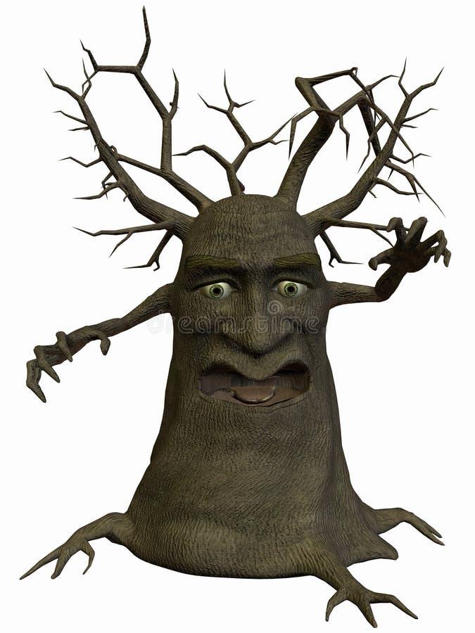 Árbol-Amenazador stock de ilustración