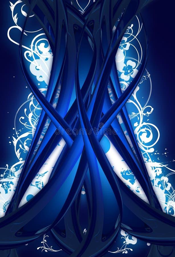 Árbol azul de Digitaces stock de ilustración
