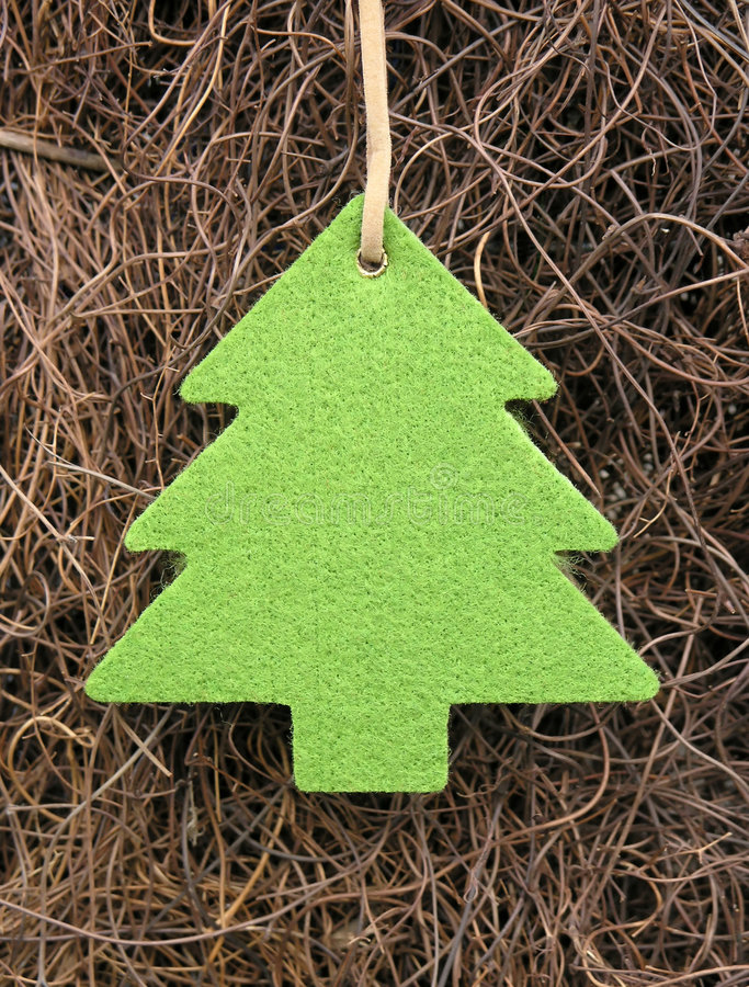 Árbol básico de Navidad imagen de archivo