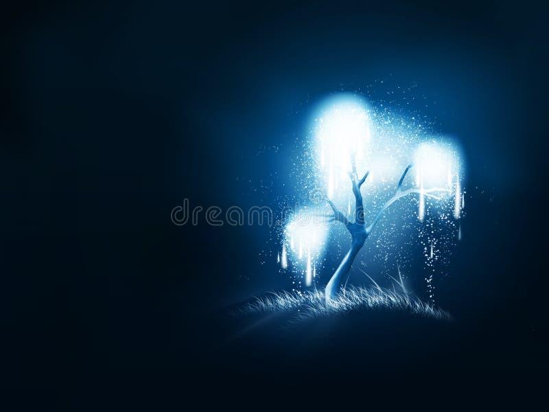 Árbol brillante mágico ilustración del vector