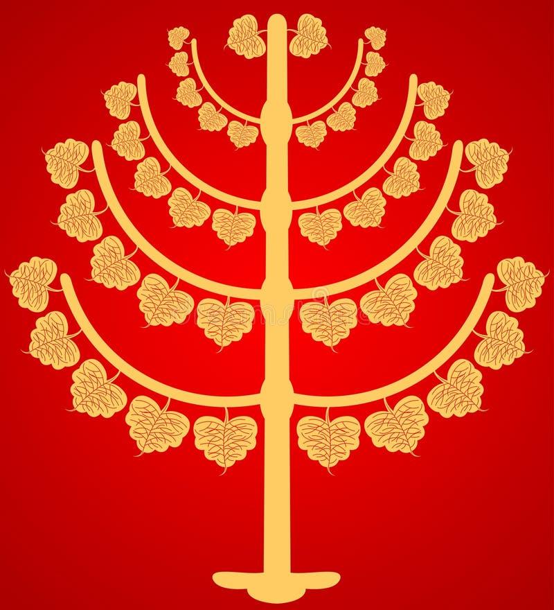 Árbol budista stock de ilustración