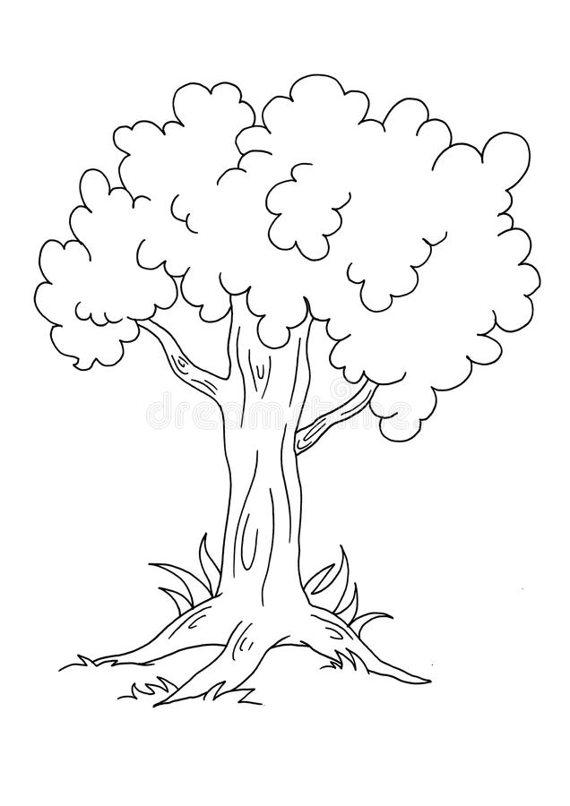 Árbol - BW stock de ilustración