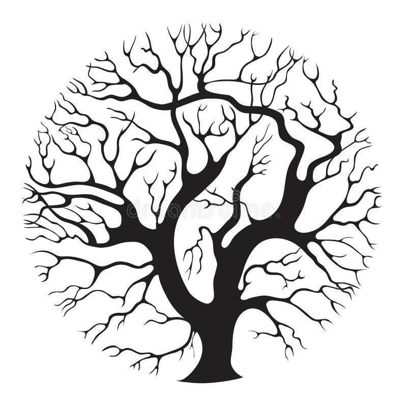 Árbol-círculo stock de ilustración
