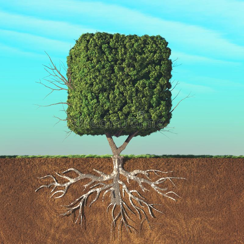 Árbol cúbico dividido libre illustration