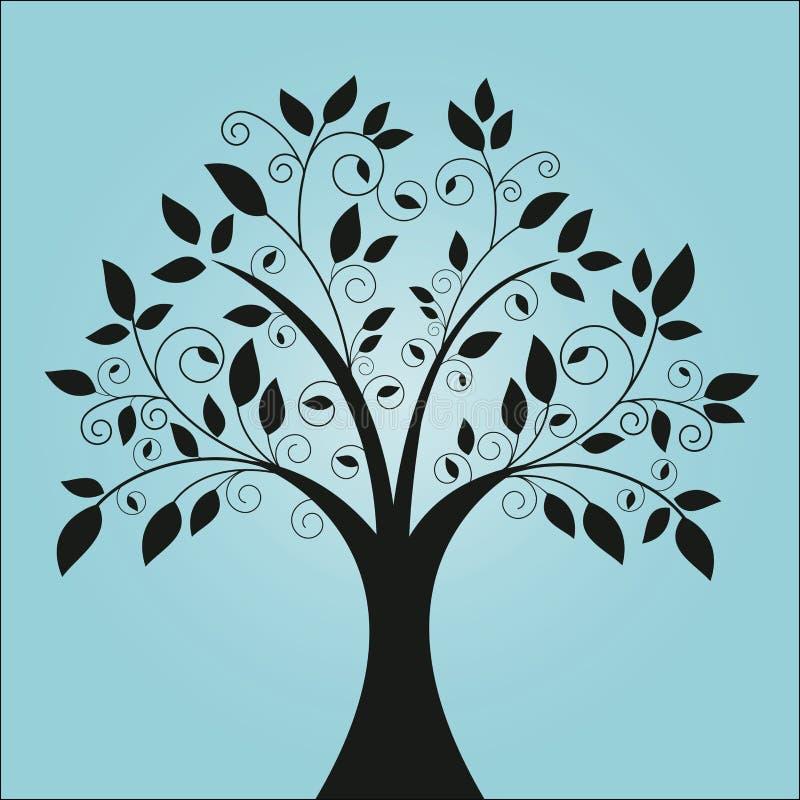 Árbol cobarde ilustración del vector
