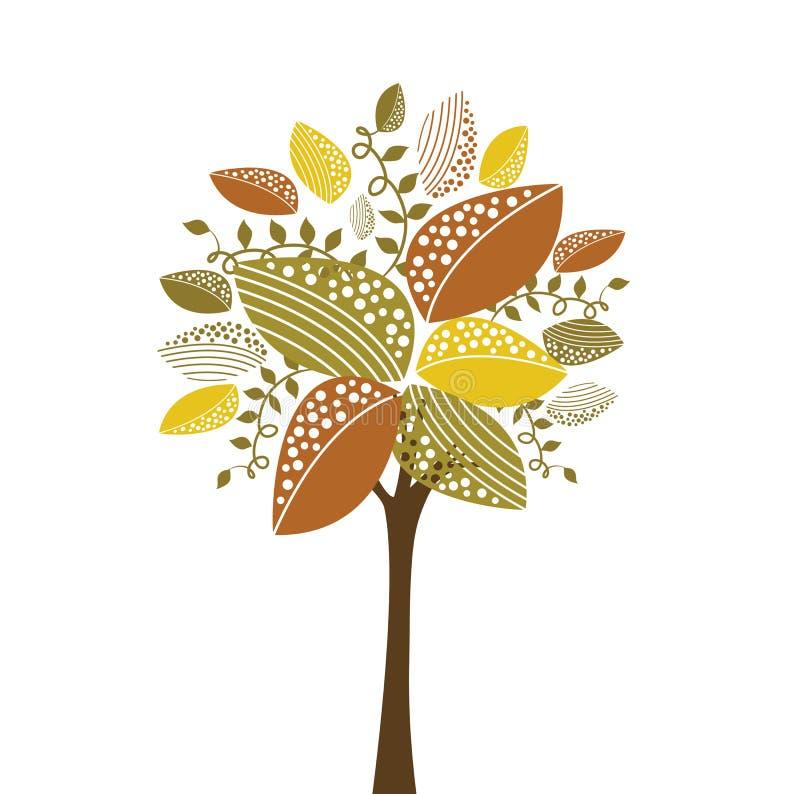 Árbol cobarde stock de ilustración