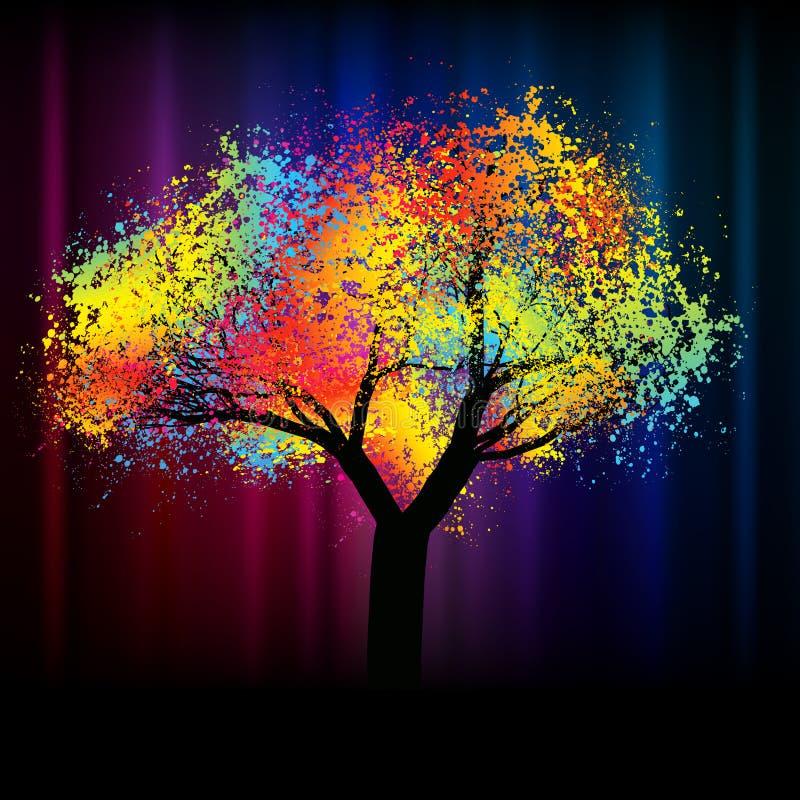 Árbol colorido abstracto. Con el espacio .EPS 8 de la copia ilustración del vector