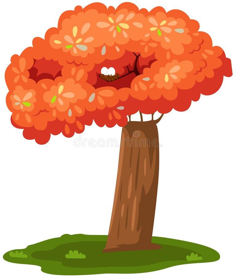 Árbol colorido con la jerarquía libre illustration