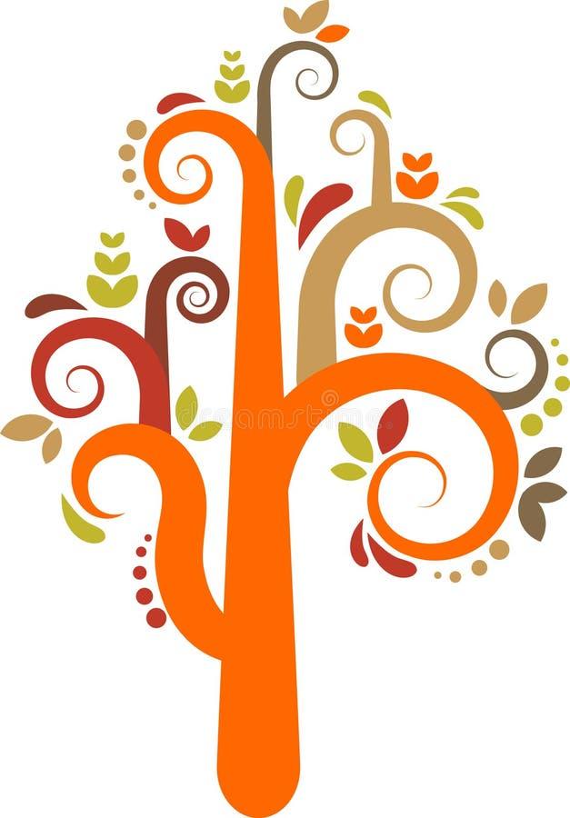 Árbol colorido del vector ilustración del vector