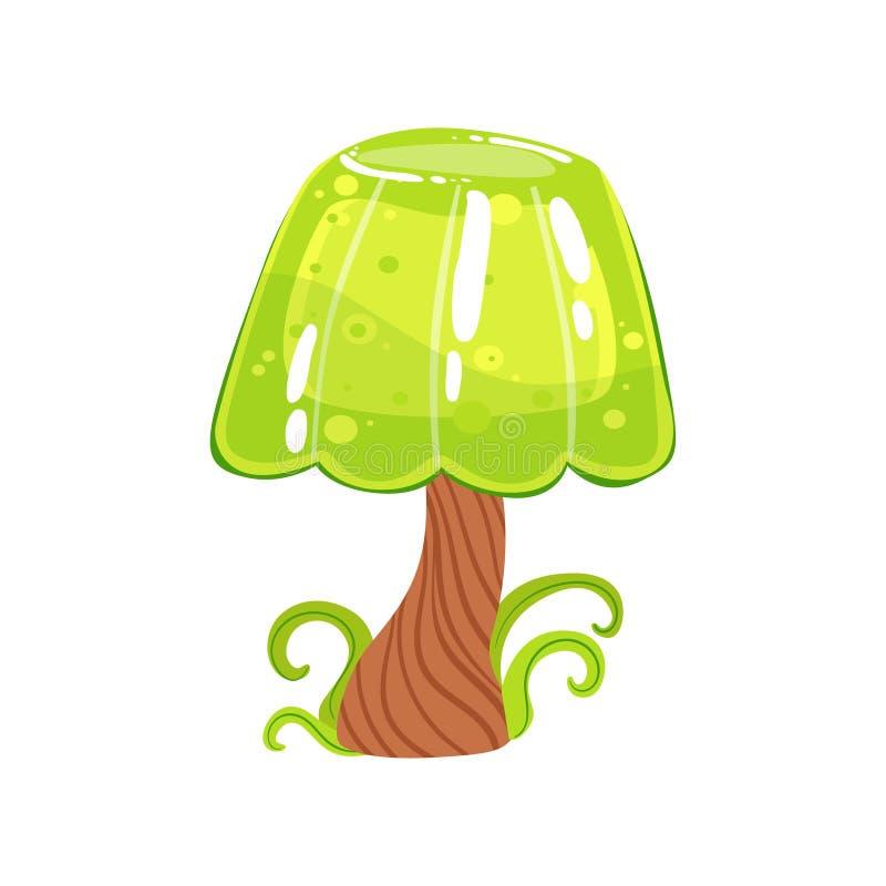 Árbol con el elemento dulce del paisaje de la tierra del caramelo de la fantasía de Jelly Crown And Chocolate Trunk libre illustration